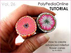 PolyPediaOnline - 9 Advanced Millefiori Flower Canes Tutorial