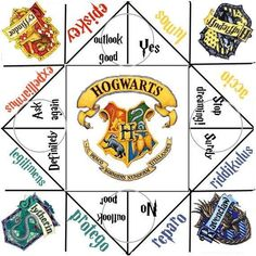 Harry Potter toys and games -- Hogwarts Cootie Catcher Harry Potter Halloween, École Harry Potter, Magie Harry Potter, Classe Harry Potter, Fans D'harry Potter, Mundo Harry Potter, Harry Potter Birthday Meme, Harry Potter Activities, Harry Potter Printables