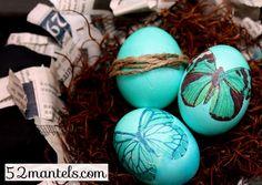 Decoupaged Easter Eggs #eggs #Easter