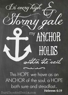 """This hope we have as an anchor of the soul..."" Hebrews 6:19. One of my favorite verses and an inspiration for much of my jewelry."