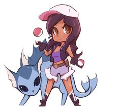 Aphmau and her vaporeon