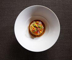 Galleries – The Art of Plating. King crab, Musque de Provence pumpkin, mandarin, and lemon verbena by chef Michael Tusk. (photo by Maren Caruso)