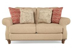 BROY-3666-1/8948-81 - Broyhill Whitfield Loveseat | Mathis Brothers Furniture