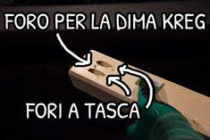 Fori a tasca e foro piccolo centrale per fissare la dima Kreg senza usare la pinsa    #pockethole #foritasca #woodworking  #woodworker #diyhomedecor #diy #kregjig