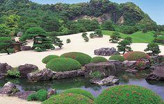 The White Gravel and Pine Garden, Adachi Museum of Art, Yasugi, Japan.