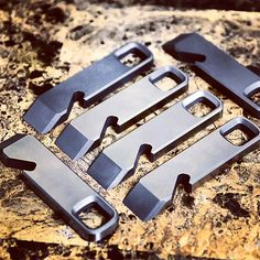 Instagram media by prodigy3d - #titanium #prybars a various points of being…
