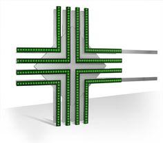 Croce LED per Farmacia SiRiO 90 con effetti luminosi di dissolvenza, dinamici e statici.