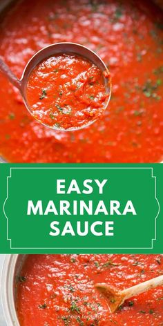 Skip the jarred stuff, a homemade marinara sauce is the way to go! This simple sauce has many uses and it's incredibly simple to make!