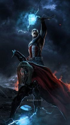 Captain and Thor iPhone Wallpaper - iPhone Wallpapers