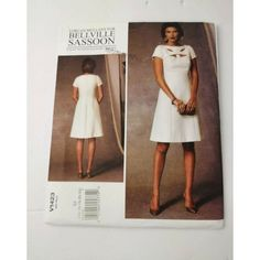 Vogue Pattern Dress Size 14 to 22 Lorcan Mullany Bellville Sassoon Design fun Dress Patterns, Sewing Patterns, Size 14 Dresses, Designer Dresses, All Things, Pattern Design, Shoulder Dress, White Dress, Vogue