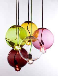 Meltdown Colorful pendant lamp / Kleurige hanglamp van Meltdown.