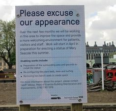 Newly cleared site of Mary Seacole Statue.