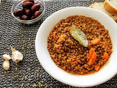 Greek Traditional Lentil Soup Lentil Soup, Chana Masala, Lentils, Soups, Greek, Traditional, Ethnic Recipes, Food, Lenses