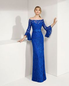 Boat Neck Mother of the Bride Dresses Lace Outfits Full Length Appliques Sheath , Mother Of The Bride Gown, Mother Of Groom Dresses, Mothers Dresses, Evening Dresses With Sleeves, Half Sleeve Dresses, Evening Gowns, Lace Outfit, Lace Dress, Gala Dresses