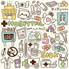 "Wall Mural ""cube, vector, object - cute doodle hospital"" ✓ Easy Installation ✓ 365 Day Money Back Guarantee ✓ Browse other patterns from this collection!"