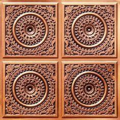 """Decorative Ceiling Tiles, Inc. Store - Grandma's Doilies Quartet - Faux Tin Ceiling Tile - Glue up - 24""""x24"""" -"""