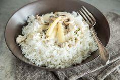 Omas Hühnerfrikassee mit Champignons und Spargel