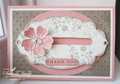 Stampin' Up! stamp set Flower Shop and pansy punch, Apothecary Accents framelits;Penny spinner card by Amanda Fowler at Inspiring Inkin'