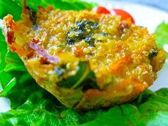Muffin quiche with quinoa - wild rose cleanse friendly! (can freeze & reheat for on-the-go breakfast) (Spinach Muffin Mini Frittata) Real Food Recipes, Vegetarian Recipes, Cooking Recipes, Healthy Recipes, Yummy Food, Brunch Recipes, Breakfast Recipes, Breakfast Spinach, Detox Breakfast
