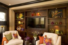 Vibrant Transitional Family Home Family Room Robeson Design