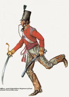BRITISH ARMY - Officer, 52 (Oxfordshire) Regiment of Fott - Light Infantry, 1812
