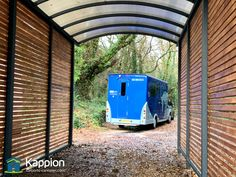Horse Box Canopy installed today in West Sussex by Kappion Carports & Canopies. This canopy height is 3 metres. Carport Canopy, Canopies, Horses, Motorhome, Box, Building, Contemporary, Snare Drum, Rv