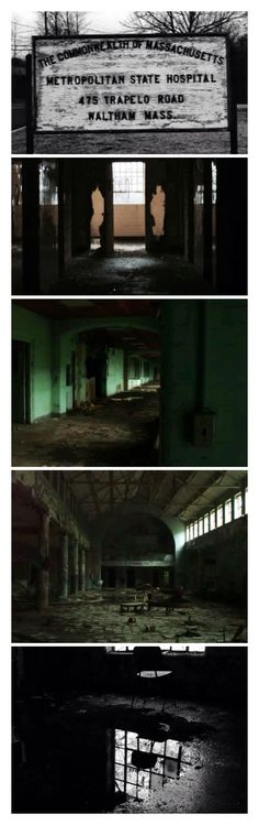 """Metropolitan State Hospital.. I guess that """"institutional green"""" paint was supposed to be a calm, soothing color."""