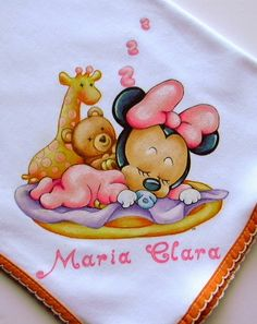 Natal Do Mickey Mouse, Mickey Mouse Christmas, Mickey Minnie Mouse, Minnie Baby, Baby Mouse, Baby Painting, Fabric Painting, Cute Disney, Baby Disney
