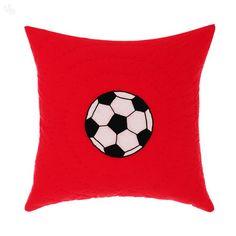 buy living football cushion black white at. Black Bedroom Furniture Sets. Home Design Ideas