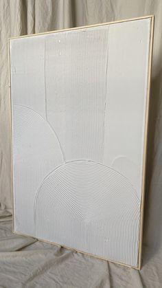 Diy Plaster, Plaster Paint, Plaster Walls, Art Mural 3d, 3d Wall Art, Abstract Wall Art, White Wall Art, Textured Canvas Art, Diy Canvas Art