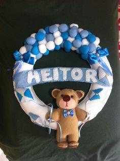 Guirlanda Urso com balões - R$ 70,00