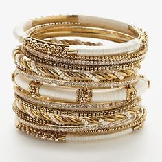 stacked bangles..