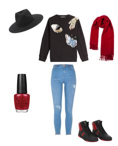 """""""Untitled #371"""" by i-would-prefer-not-to on Polyvore featuring Alexander McQueen, Gucci, rag & bone, River Island and OPI"""