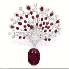 Cartier France - Peacock Brooch - Sothebys