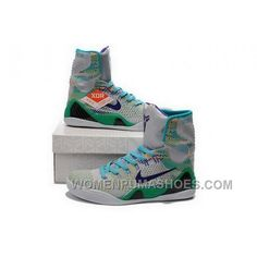 Nike Kobe 9 High 2015 Grey Green Mens Shoes Cheap To Buy AwKmYT