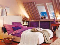 Um lindo quarto roxo