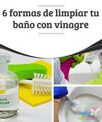 6 formas de limpiar tu baño con vinagre blanco  Por cuestiones de higiene y seguridad, la limpieza y desinfección del baño es una de esas tareas del hogar que no debemos descuidar.