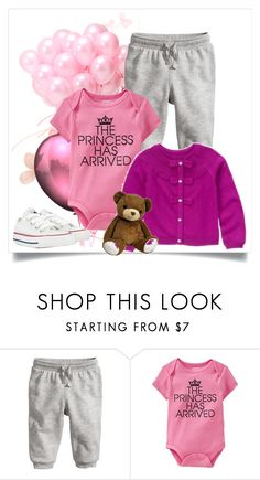 """little princess"" by nanni33 ❤ liked on Polyvore featuring Old Navy, Gymboree and Converse"