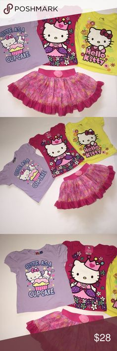 HELLO KITTY Bundle size 2T - 3T Super Cute Summer HELLO KITTY Bundle size 2T - 3T Super Cute Summer Outfits. Hello Kitty Matching Sets
