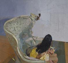 sangram majumdar -- Veils, oil on linen, 64 x 60 in, 2010 (private collection)