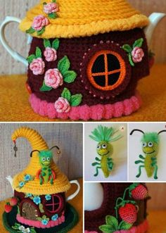 You will love our collection of Tea Cosy's that include these gorgeous Fairy House Tea Cosy Pattern. Check out all the great ideas now.
