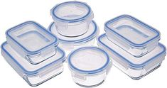 Fullstar Pack) Food Storage Containers with Lids - Black Plastic Food Containers with Lids - Plastic Containers with Lids - Airtight Leak Proof Easy Snap Lock and BPA-Free Plastic Container Set Airtight Food Storage Containers, Lunch Box Containers, Glass Food Storage, Small Kitchen Storage, Glass Containers, Laundry Storage, Food Storage Organization, Kitchen Organization Pantry, Storage Ideas