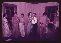 Round dance between squares at dance in McIntosh County, Oklahoma (LOC) | Flickr - Photo Sharing!