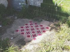 """Javier De Riba is a Spanish artist who owns an impressive collection of what he calls """"floor installations"""". To bring colors in abandoned and derelict places, he draws geometric patterns on the ground that look like tiles, thanks to sprays and stencils"""