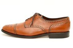 Allen Edmonds Sanford Cap Toe Lace Up Dress Shoes Oxfords Size 9.5