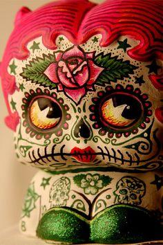 Dia De Los Muertos Deadey Boop PRINT 315 from by lizzyfink on Etsy. I love Dia De Los Muertos art.