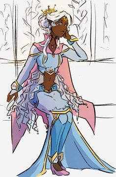 "lctor:  ""I kind of attempted to colour @moresquigglylines amazing allura piece at 4 in the morning  """