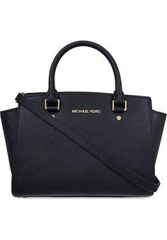 MICHAEL MICHAEL KORS - Selma medium Saffiano leather satchel | Selfridges.com