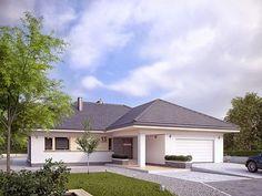 Ambrozja 6 to projekt parterowego domu spełniającego potrzeby 4 - 5-osobowej rodziny. Wyraźnie rysuje się podział na przestronną strefę dzienną i przytulną część...