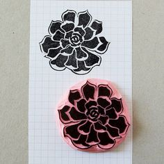 Succulent rubber stamp to stamp it everywhere!